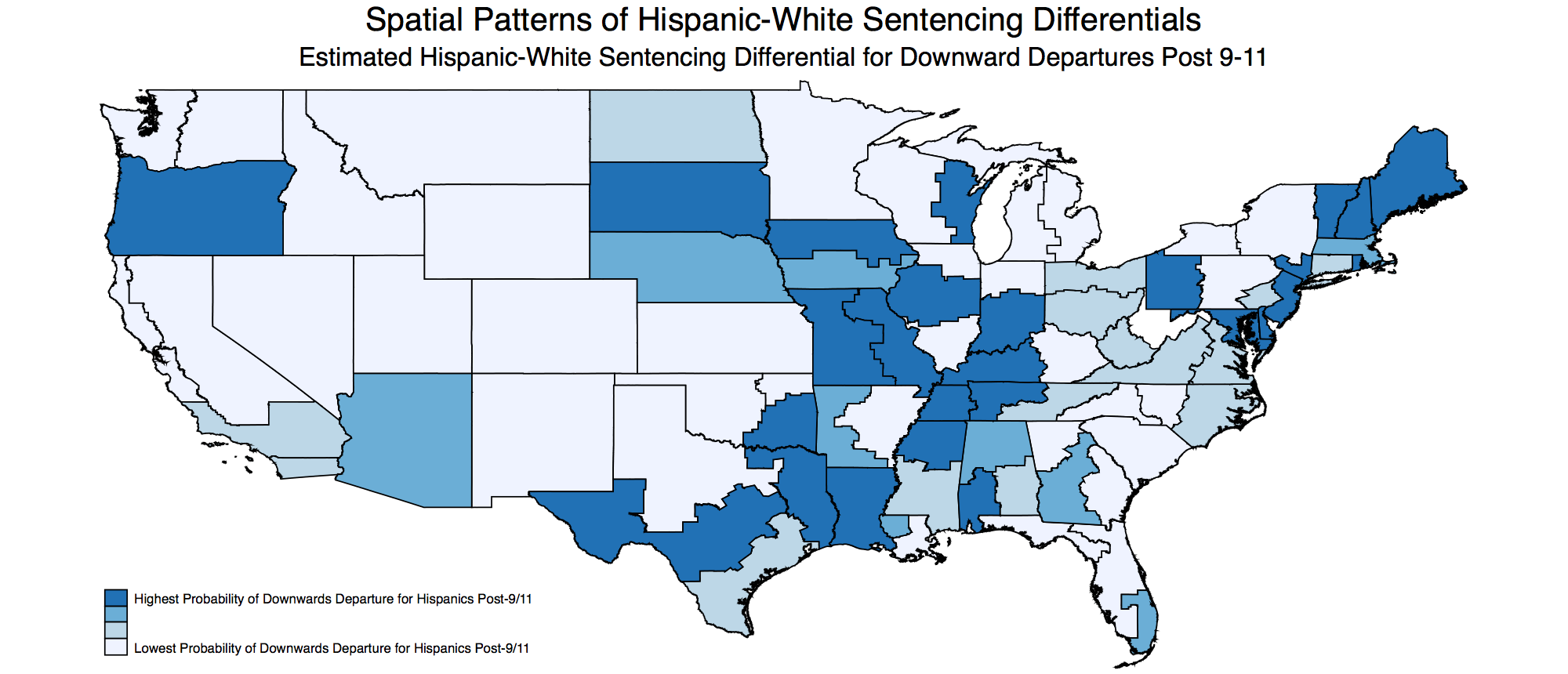 Spatial Patterns of Hispanic-White Sentencing Differentials